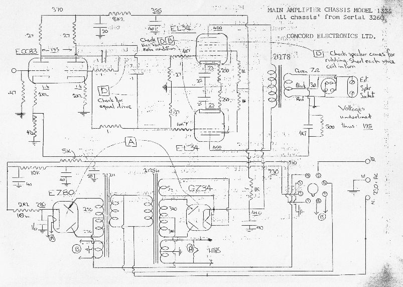 Old Tube Amp Schematic