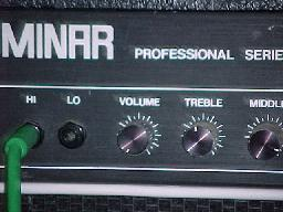 Later model Eminar, with band at Barraba School NSW, June 2004